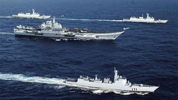 Авианосец Китайская республика засветился в неоднозначных водах Южно-Китайского моря