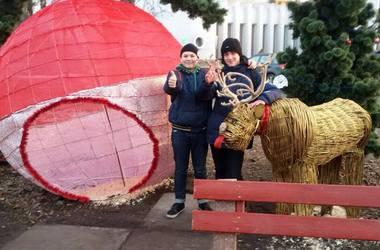 В Киеве появился новогодний олень