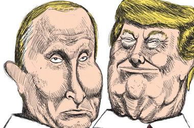 Charlie Hebdo поместил на обложку свежего номера Трампа и Путина в виде подарков