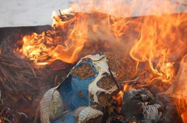 Во Львове сожгли наркотики на миллион гривен