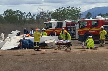 В Австралии при посадке разбился самолет