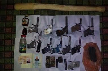 Под Одессой полиция изъяла у пенсионера серьезный арсенал самодельного оружия