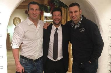Михаэль Баллак назвал братьев Кличко своими охранниками (фото)