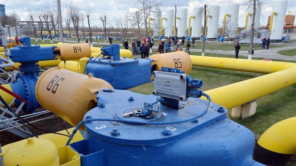 Украина увеличила подачу газа изподземных хранилищ из-за мороза