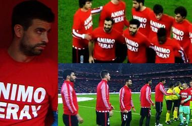 """Игроки """"Атлетика"""" и """"Барселоны"""" поддержали больного раком футболиста"""