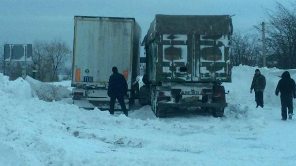 ВНиколаевской области навсе 100% перекрыто движение транспорта