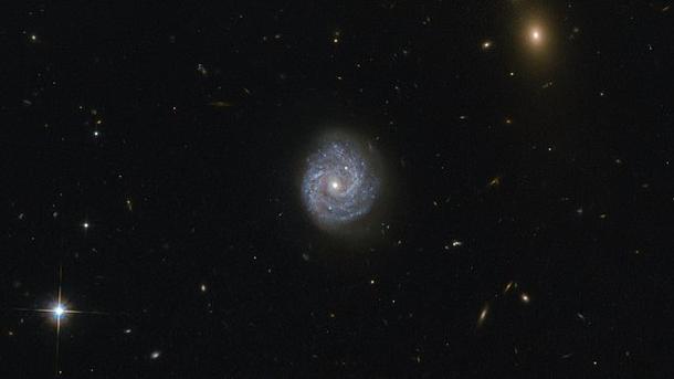 NASA показало снимок необычайной спиральной галактики