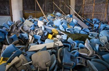 """Легендарный стадион """"Маракана"""" превратился в руины"""