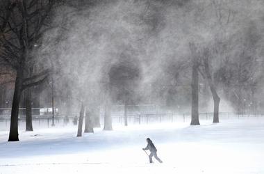 На юг Украины надвигается сильная вьюга и снегопады