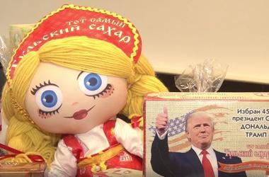 """""""Сладенький Трамп"""": в России выпустили сахар с портретом президента США"""
