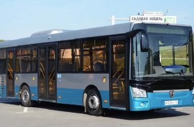 Ryska buss i Ukraina gick en strykande åtgång