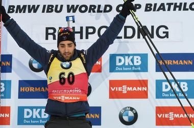 Мартен Фуркад выиграл гонку преследования на Кубке мира в Рупольдинге
