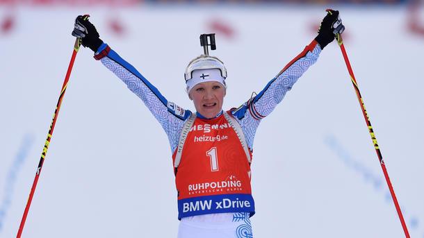 Биатлонный спринт выиграла Мякяряйнен. Акимова— пятнадцатая