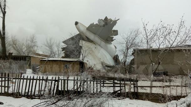Врайоне аэропорта «Манас» вБишкеке разбился грузовой турецкий самолет