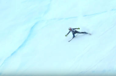 Terrible video of the fall of the skier at a speed of 100 km/h