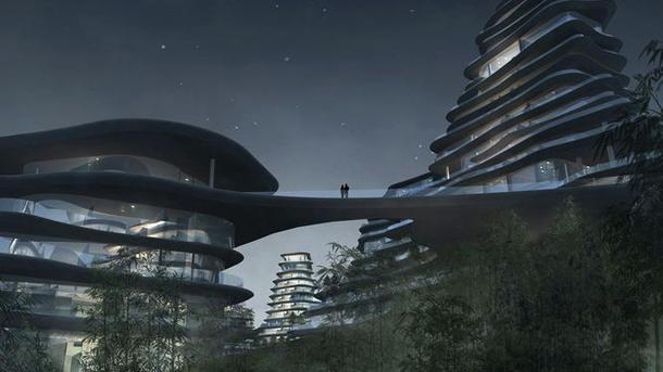 Проект комплекса Huangshan Mountain Village в Китае. Фото: MAD Architects