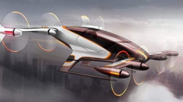 Airbus собирается выпустить к следующему 2018г. летающий автопилотируемый авто