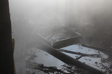 В Полтаве пылал завод