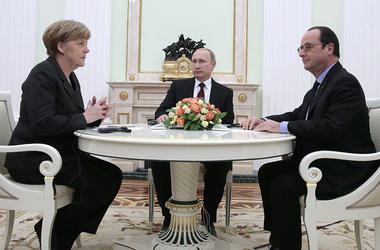Putin, Merkel and Hollande supported the rapid exchange of prisoners