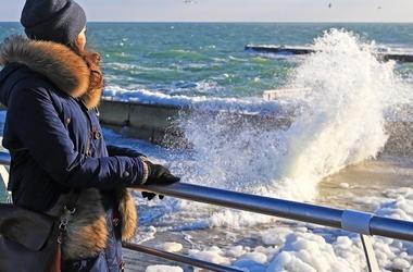 Ледяной шторм в Одессе: захватывающие фото