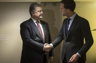Forum in Davos: Poroshenko met with Rutte