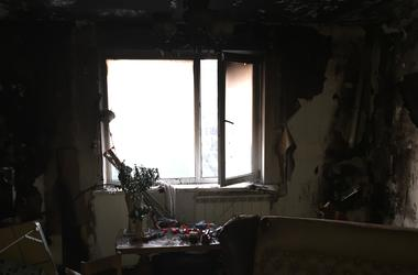 In Kiev from-for short circuit burned apartment