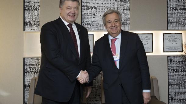 Порошенко обсудил сновым генеральным секретарем ООН минские соглашения иКрым