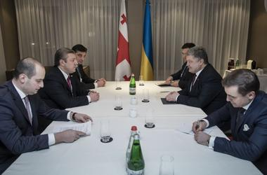 Poroshenko discussed with Kvirikashvili steps to activate the political dialogue between Ukraine and Georgia