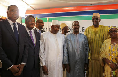In Senegal, took place the inauguration of the elected President of the Gambia