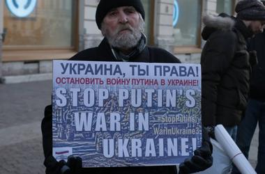 Акция против действий Путина в Украине прошла в Питере