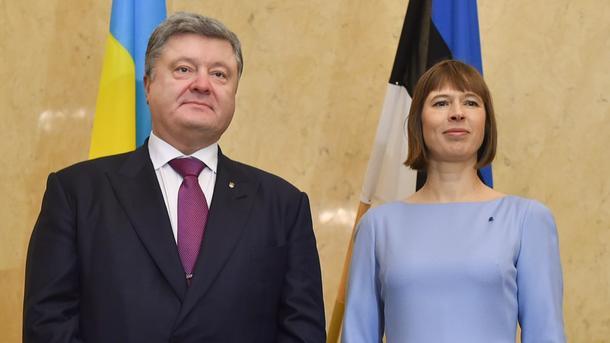 Порошенко обсудил спрезидентом Эстонии антироссийские санкции
