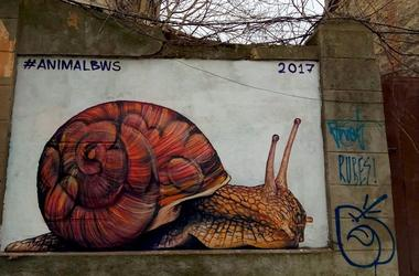 In the center of Odessa there is a new mural