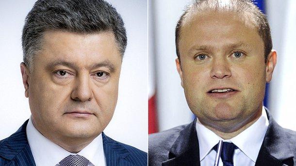 Порошенко провел телефонный разговор спремьер-министром Мальты