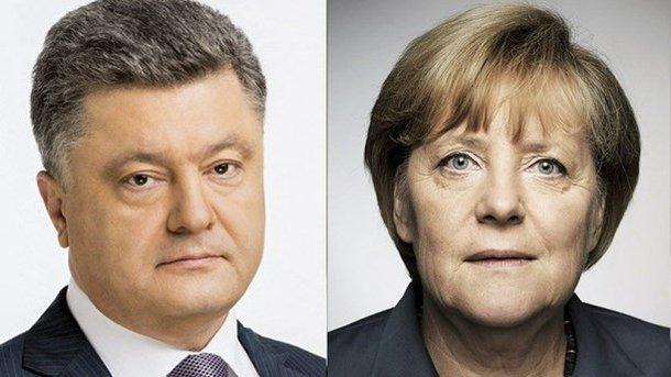 МИД: ВГермании Порошенко иМеркель обсудят вопрос безопасности наДонбассе