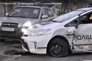 Копы попали в тройное ДТП в Николаеве: пострадали двое патрульных