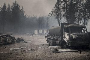 Лесные пожары выжгли Чили и сделали бездомными сотни жителей