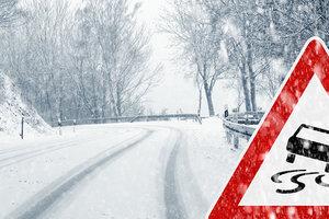 Непогода в Украине: движение транспорта ограничено в четырех областях