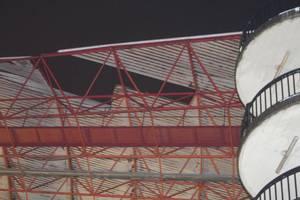 """Стадион, где предстоит сыграть """"Шахтеру"""" в Лиге Европы, пострадал от шторма"""