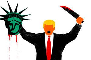 Обложка с Трампом, обезглавившим статую Свободы, спровоцировала скандал