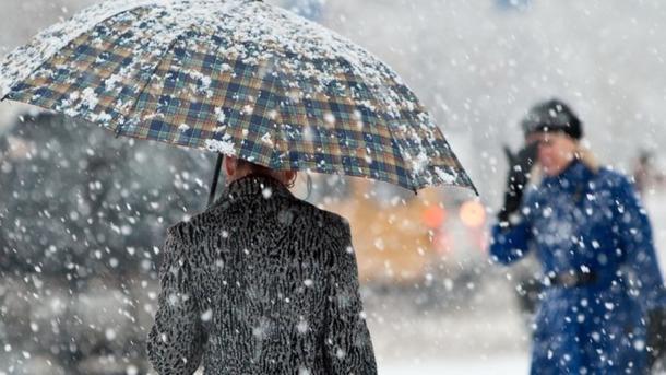 Вначале рабочей недели повсей Украине ожидаются сильные снегопады