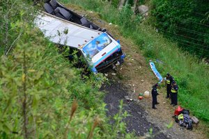 В Турции перевернулся автобус: десятки пострадавших