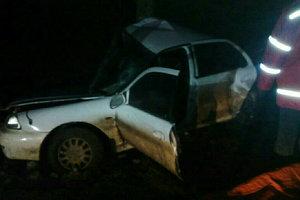 В Николаевской области водитель врезался в дерево и застрял в автомобиле