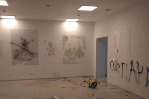В Центре визуальной культуры в Киеве неизвестные устроили погром (18+)