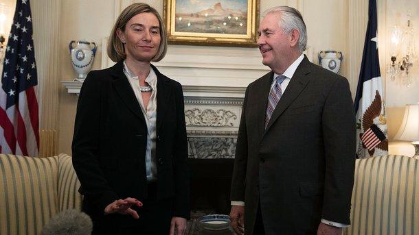 Тиллерсон иМогерини обсудили кризис вгосударстве Украина и РФ