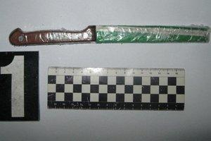 В Киеве на молодую женщину напал грабитель с ножом