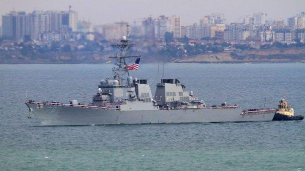 Пентагон обеспокоили пролеты самолетовРФ над эсминцем Porter