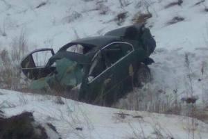 Под Киевом водитель иномарки на огромной скорости вылетел в кювет