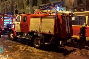 В центре Харькова горел трамвай