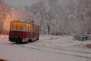 Repair of high-speed tram in Kiev: residents complain about the lack of transport