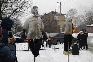 Митинг в защиту леса в Быковне завершился сожжением чучел